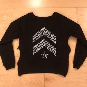 BARRY's BOOTCAMP sweatshirt cropped black xs star